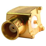 MCX Right Angle Surface Mount Jack Receptacle