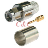 Reverse Polarity SMA Straight Plug Crimp for LMR400