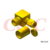 Reverse Polarity SMA Right Angle Plug Crimp for LMR400