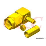 Reverse Polarity SMA Right Angle Plug Crimp for RG316u