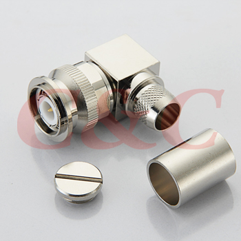 TNC Right Angle MALE CRIMP for LMR400