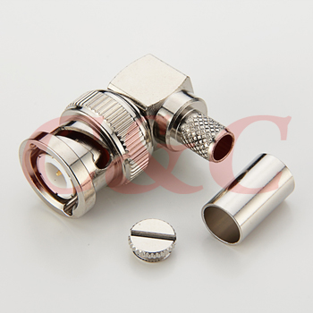 BNC Right Angle Plug Crimp for LMR240