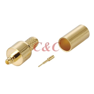 MMCX Plug Crimp for RG58u , RG58A/u , RG141A/u