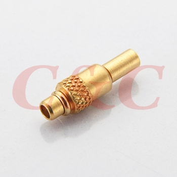 MMCX Straight Plug for semi-rigid 0.047""